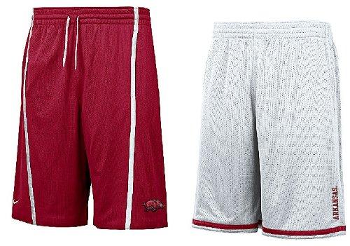 Arkansas Razorbacks Cardinal/White Nike FIT Dry 12? Inseam College Reversible Mesh Force Shorts By (L=34-35) (Razorbacks Arkansas Mesh White)