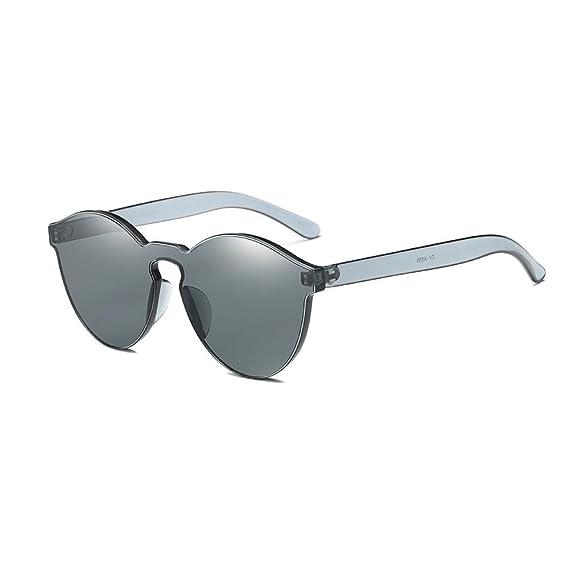 Gusspower Gafas de Sol Polarizadas Sin Marco Club Redondas Sin Montura Espejo Reflexivo Wayfarer (A