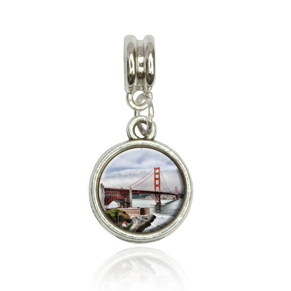 Golden Gate San Francisco Euro European Italian Style Bracelet Bead Charm Made On Terra