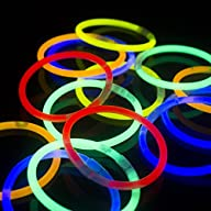 Fun Central AS406 8″ Glowsticks Glow Stick Bracelets Assorted Colors (Tube of 100)