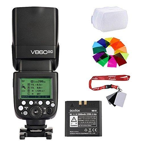 Fomito Godox VING v860ii-c 2 4 G TTLリチウムイオン電池カメラフラッシュSpeedlite v860iic for Canon 7d 60d 600d 600ex-rt 580ex II EOSカメラ