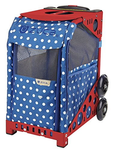 ZUCA Rolling Pet Carrier - Best in Show Bag with Red Sport Frame and Flashing Wheels