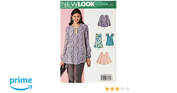 4b18df10efd New Look Patterns Misses' Tunic and Top with Neckline Variations Size: A  (8-10-12-14-16-18-20), 6414