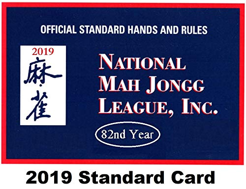 National Mah Jongg League 2019 Standard Size Card - Mah Jongg Card
