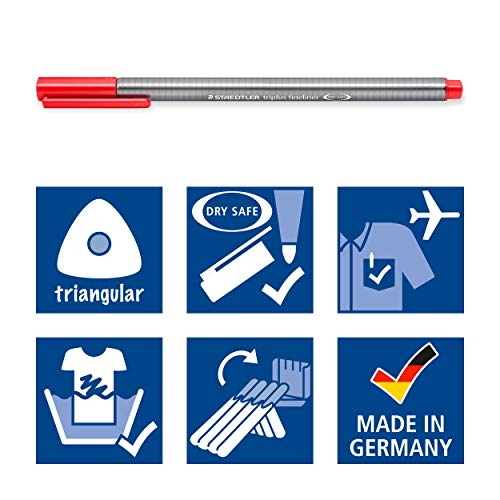 Staedtler triplus fineliner triangular, set with 60 brilliant colours, made in Germany, super fine, metal-clad tip, line width approx. 0.3 mm, 334 C60 by STAEDTLER (Image #4)