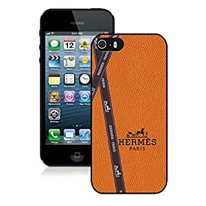 Fahionable Custom Designed iPhone 5S Cover Case With Hermes 7 Black Phone Case