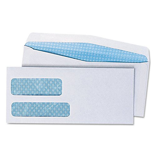 Universal Double Window Business Envelope #9, White, 500 Box