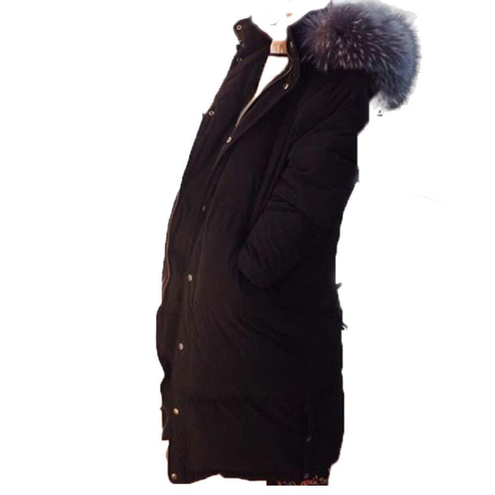 NIUMT Winterfrauen Koreanische Version Der Daunenjacke Mit Kapuze Und Großem Pelzkragen