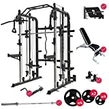 Force USA Monster G3 Smith Machine Ultimate Package, Adjustable Bench, Leg Press, Olympic Bar Weights