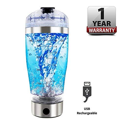 Electric Protein Shaker, Vortex Mixer, Blender, Shaker Bottle, Self Stirring Coffee Mug, Tornado Cup, USB Rechargeable, Leak Proof, High-Torque, Portable, No BPA, 16 Ounce