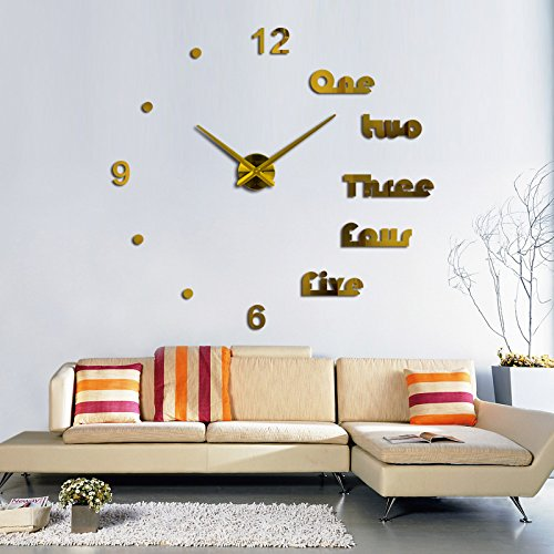 Amazon.com: EverTrust(TM) hot sale wall clock modern design reloj de pared quartz watch large decorative clocks europe living room acrylic 3d sticker: Home ...
