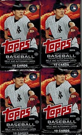 Autographed Baseball Pack (4 (Four) Hobby Packs of 2014 Topps UPDATE BASEBALL. Look for Rookie Cards (RC) of GEORGE SPRINGER, OSCAR TAVERAS, MOOKIE BETTS, MARCUS STROMAN, JACOB DEGROM and many more!)