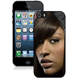 Beautiful Designed Cover Case With Jazmine Sullivan Face Girl Look Lips For iPhone 5S Phone Case