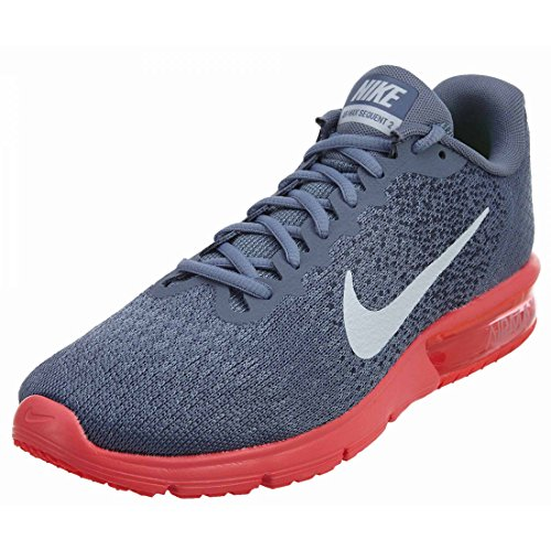NIKE Women's Air Max Sequent 2 Running Shoe (7 B(M) US, Sky Blue/White/Solar Red)