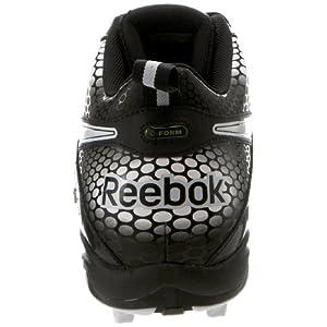Reebok Men's NFL VIZ UFORM Electrify MP2 Football Cleats,Black/White,14 M US