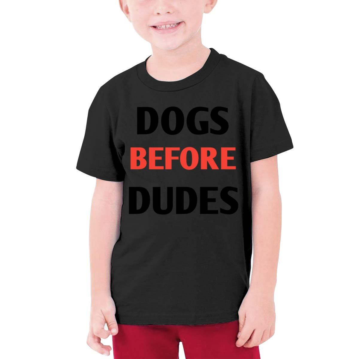 Negi Dogs Before Dudes Boys Short Sleeve T-Shirt