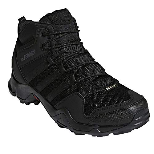 adidas outdoor Terrex AX2R Mid GTX Hiking Boot - Men's Black/Black/Black, 11.0
