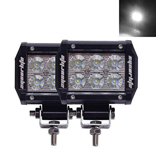 Eyourlife 18w Led Work Light Cree Led 4×4 Off Road Light Bar Pair 4 inch SUV Driving Headlight Pods Flood