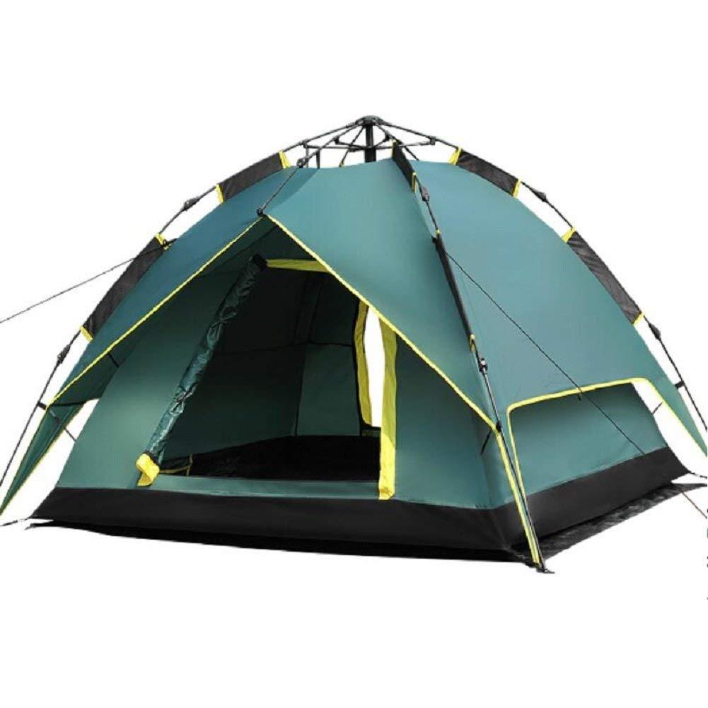 JIE Guo Outdoor-Produkte im Freien Hydraulische automatische Zelte, 3-4 Personen Regen, Sonnenschutz, Glasfaser-Stangen Durable Outdoor-Zelte, hochwertige Camping Zelte