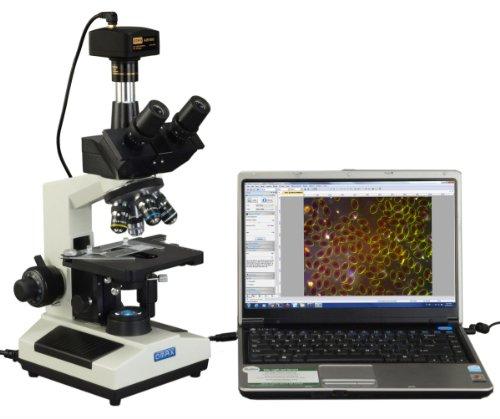 OMAX 40X-2000X Compound Darkfield Trinocular LED Microscope+14.0MP Digital Camera+Aluminum Carrying Case