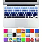 """DHZ Blue Gradient AIR-11inch Ultra Thin Keyboard Cover Silicone Skin for Apple MacBook Air 11.6"""" Models: A1370 and A1465 - (USA KEYBOARD VERSION)"""