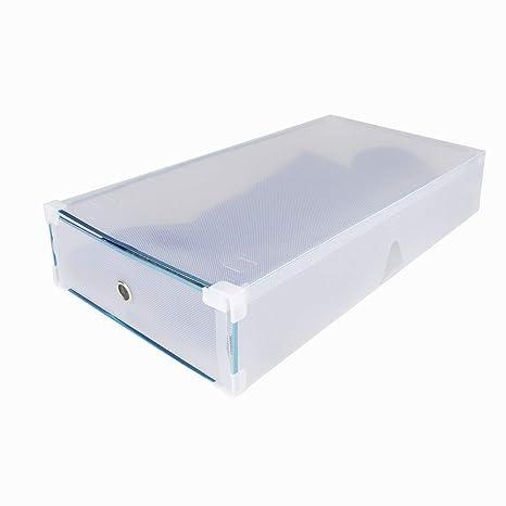 Funime 5 x Zapatos Box Set Cajas apilable Transparente para Botas Botas Caja de Zapatos Caja