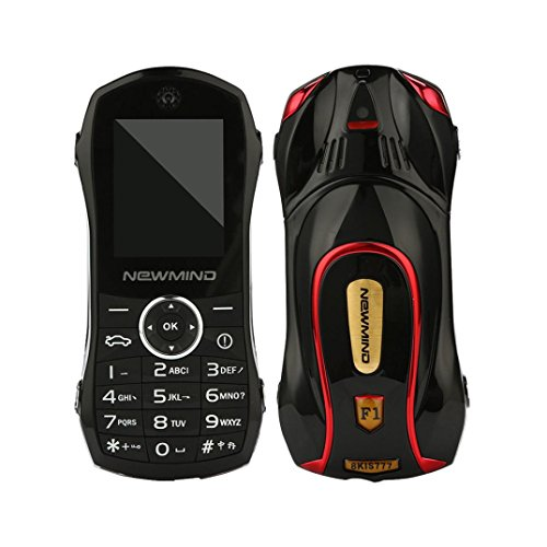 - Lywey Personality Children Sports Car Mobile Phone Student Small Mobile Phone for Kids or Student (Black)