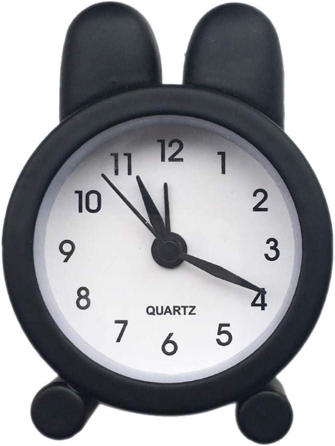 Gro/ßer Abverkauf Black Evansamp Tischuhren Super Mini Clock Ger/äuschlos Analog Quarzwecker f/ür Alle Gealtert Tiefschl/äfer Kinder Student