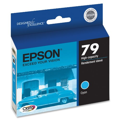 Epson Claria Hi-Definition 79 High-capacity Inkjet Cartridge Cyan T079220
