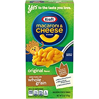 Kraft Original Flavor Whole Grain Macaroni and Cheese Meal (6 oz Boxes, Pack of 12)