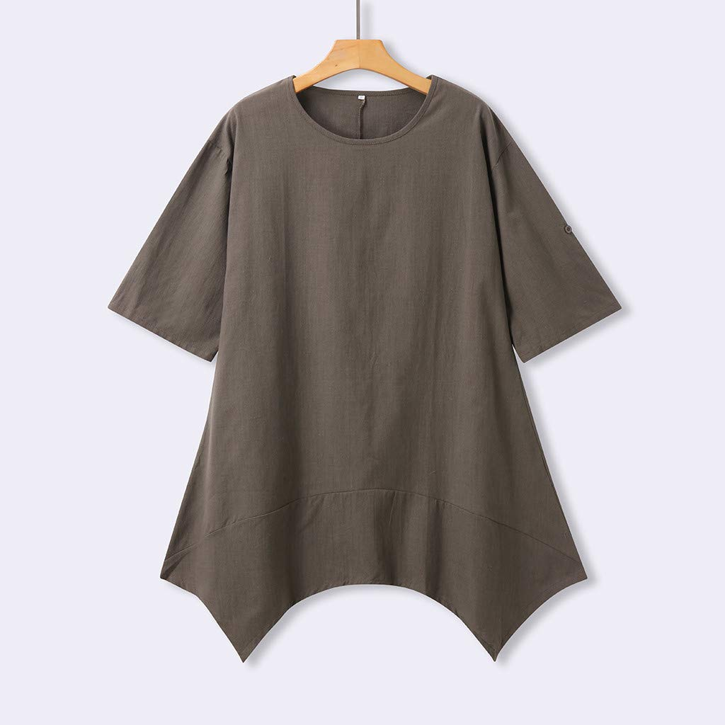 Summer Feminino Vestido Cotton Minidress Ladies Casual Plus Size T-Shirts Dress TOTOD Dress for Women