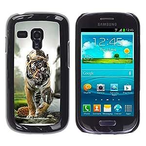 TopCaseStore / la caja del caucho duro de la cubierta de protección de la piel - Steam Punk Tiger Robot - Samsung Galaxy S3 MINI NOT REGULAR! I8190 I8190N