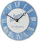 Roger Lascelles Convex Enamel French Wall Clock, La Source, 11-Inch Kitchen Clock Review