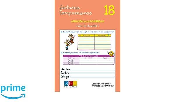 Lecturas comprensivas 18 - Leo Textos XII: Amazon.es: José Martínez Romero: Libros