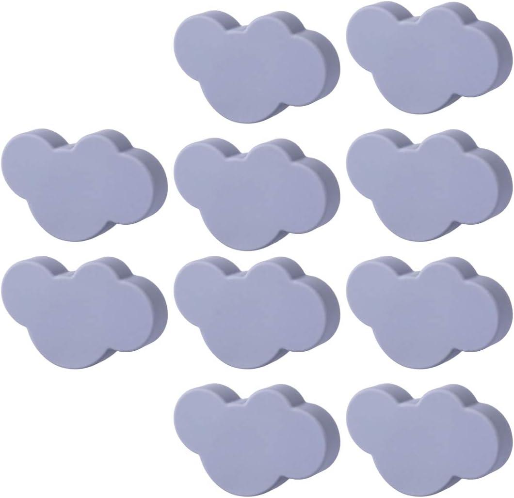 GODNECE Juego de 10 pomos para muebles y cajones infantiles, diseño de nube, color gris