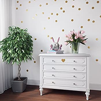 Amazoncom Gold Wall Decal Dots Decals Including Free - Wall decals dots