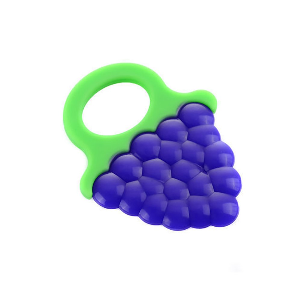 Baby Teething Toys, Soft Fruit Silicone Teethers Chew Toys for Toddlers & Infants Baby Teeth Stick Grape Newin Star