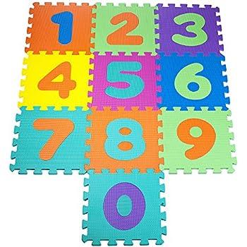 Amazon Com Play Met Numbers Floor Puzzle Set Of 10 Pics