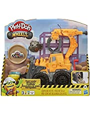 Play-Doh Wheels Front Loader Toy Truck for Kids Ages 3 and Up with Non-Toxic Play-Doh Sand Compound and Classic Play-Doh Compound in 2 Colors