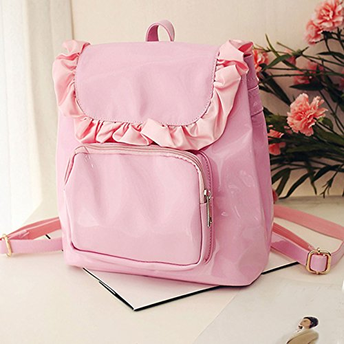 c1acafab5548 Girls Lacework Backpack Macramé MIni Candy Color Leisure Casual ...