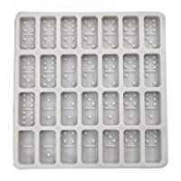 28 Cavities Domino 0.39inch Deep Toy Game for DIY Cake Fondant Baking Biscuit Soap Tray 3D Chocolates Hard Candies Resin Drop Glue Decor Silicone Mold Tool