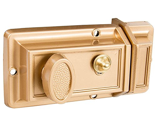 Solid Brass Cylinder - Surface Mount Rim Nightlatch (Finger Pull) - Solid Cylinder Pull