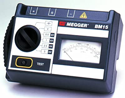 Megger BM15 5kV Analog Insulation Tester, Battery Powered