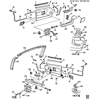 57 Chevy Door Glass Diagram