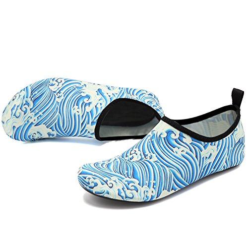 Shoes VIFUUR Dry Socks Slip Aqua Barefoot Quick Men Kids on for Water Sports Yoga Women Sprayblue ExqrCqT