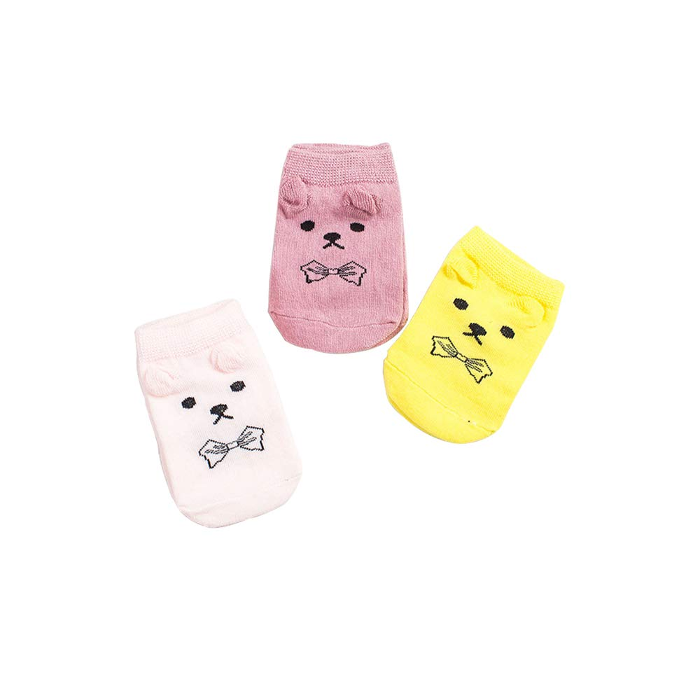 6 Pairs YANN Toddler Girl Cute Cotton Socks for Baby Girls and Boys