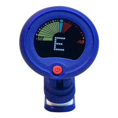 xMxDESiZ Universal Metronome Clip para guitarra eléctrica bajo, ukelele cromático afinador herramienta, azul