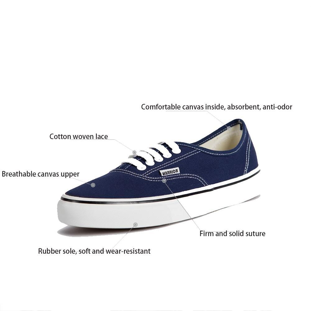 ZXB Uomo Da donna Coppia Tela Scarpa Scarpa Scarpa Andare con lo skateboard   Piatto di scarpe allacciare Piatto Palestra Tempo libero Scarpe da ginnastica, blu, UK 6.5 EU 39 d3e05e