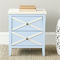 Safavieh American Homes Collection Sherrilyn Light Blue 2-Drawer Side Table