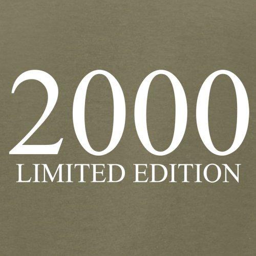 2000 Limierte Auflage / Limited Edition - 17. Geburtstag - Herren T-Shirt - Khaki - S